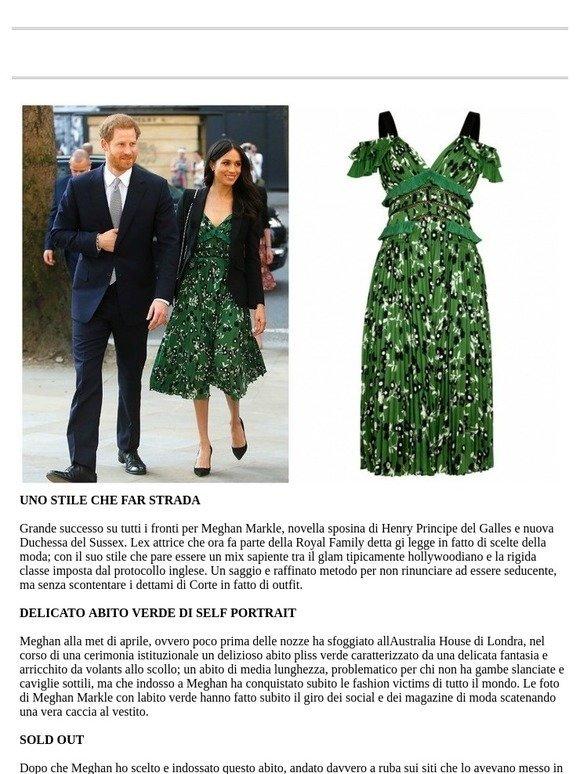 Shoplowcost  Meghan Markle  l abito verde di self portrait scelto dalla  duchessa  3825928f2be