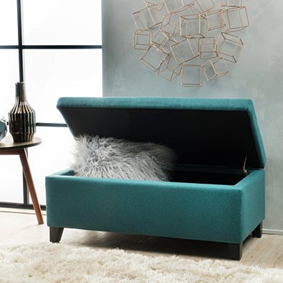 Atlantic Large Capacity Storage Ottoman
