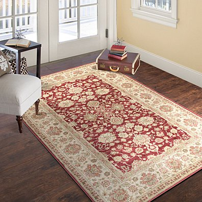 Lavish Home Vintage Flowered Rug - Red - 5' x 7'7
