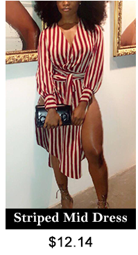 Striped Mid Dress