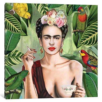 Frida Con Amigos by Nettsch Canvas Print
