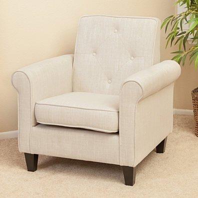Barzini Light Beige Fabric Club Chair