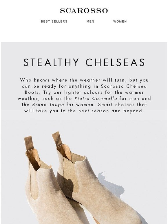reputable site 74796 e2265 Scarosso UK: Equipped in advance   Chelsea Boots👢   Milled