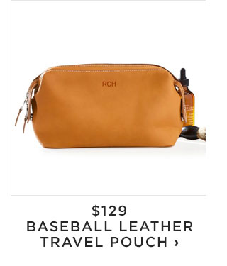 $129 - BASEBALL LEATHER TRAVEL POUCH