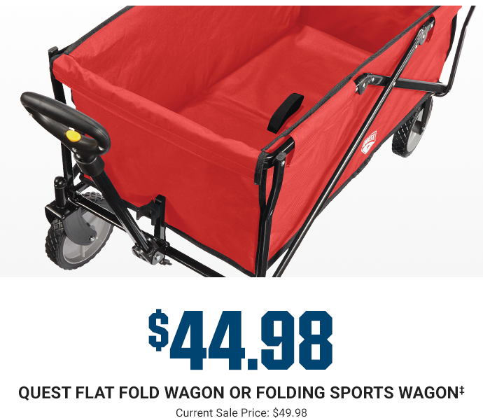 $44.98 - QUEST FLAT FOLD WAGON OR FOLDING SPORTS WAGON | Current Sale Price: $49.98
