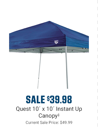 SALE $39.98 - Quest 10ft x 10ft Instant Up Canopy | Current Sale Price: $49.99