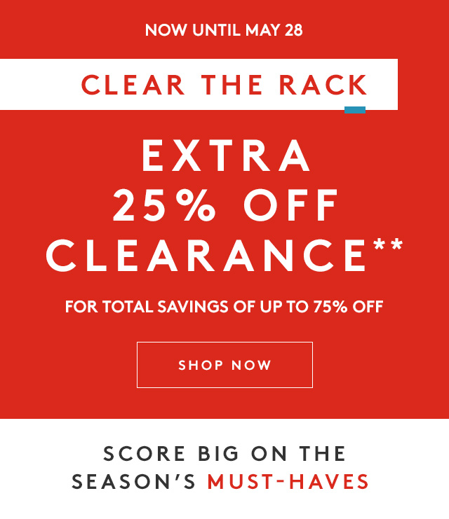 96e8b4f622b9 Nordstrom Rack  CLEAR THE RACK—Up to 75% OFF!