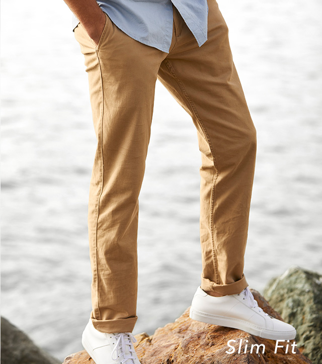 SHOP SLIM FIT KHAKIS