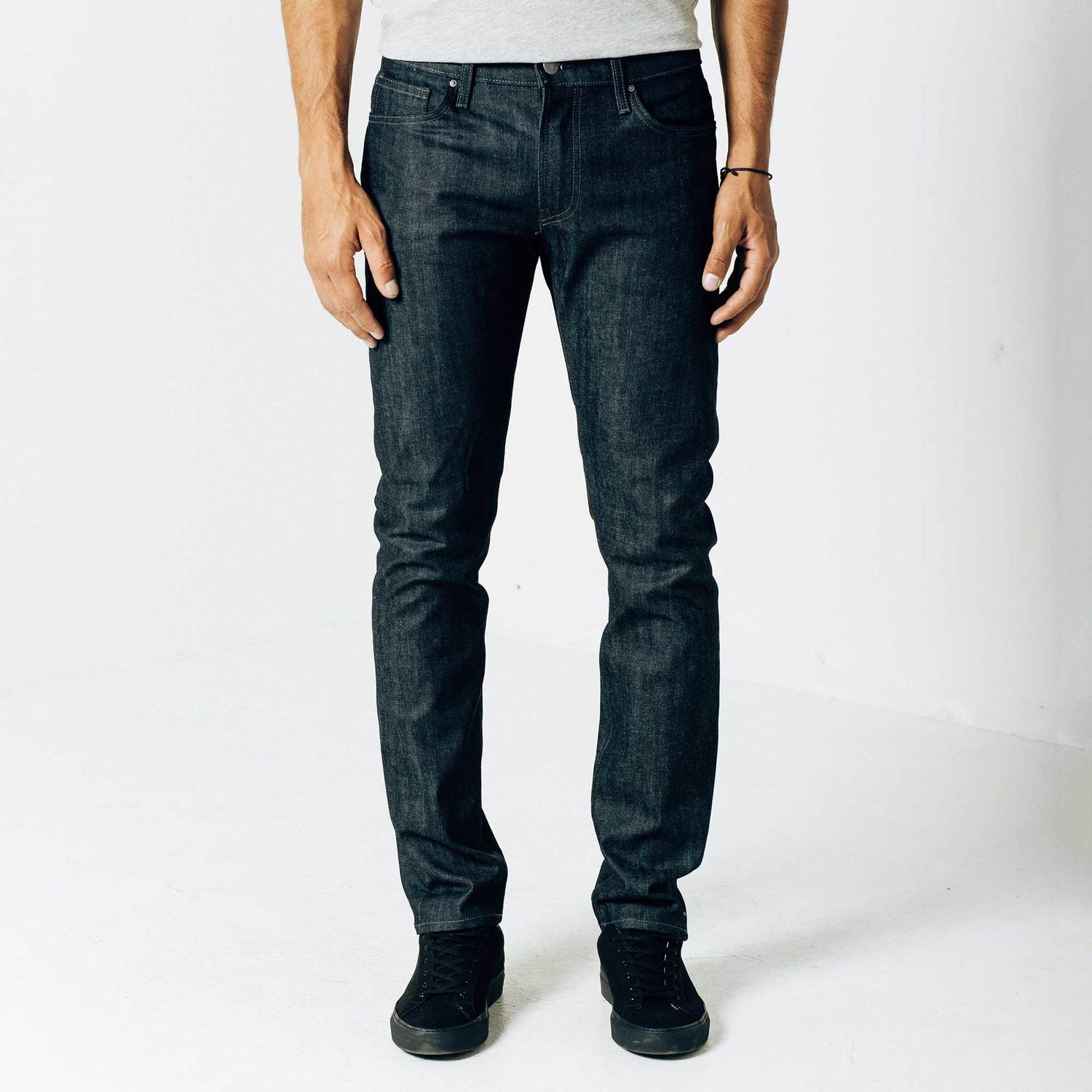 Skinny-Slim 11.75oz Raw Denim Jeans in 24-dip Indigo - Grey