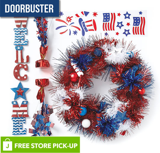 ENTIRE STOCK Land of the Free Tinsel Decor.