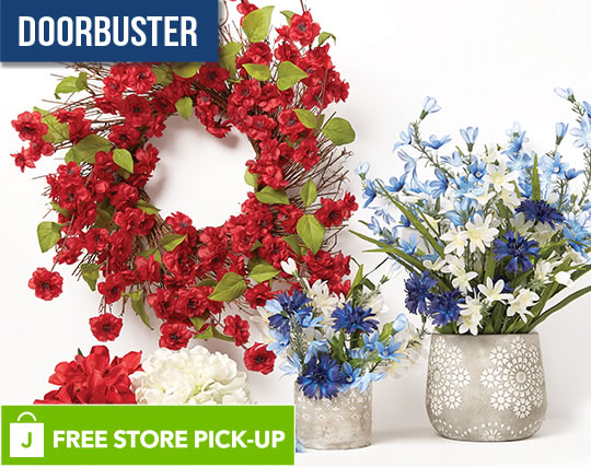 ENTIRE STOCK Spring Floral, Containers and Ribbon.
