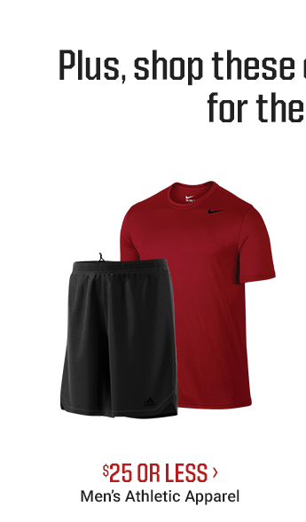$25 OR LESS - MEN'S ATHLETIC APPAREL