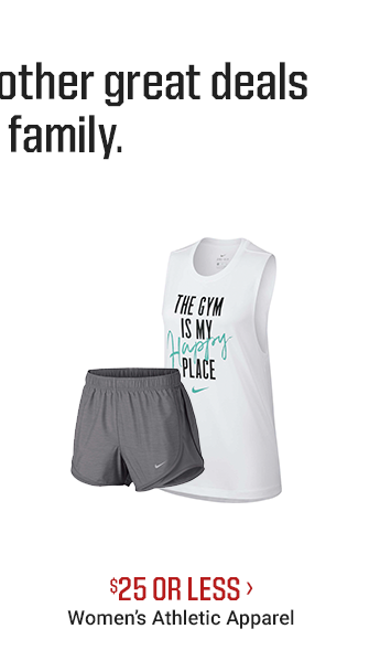 $25 OR LESS - WOMEN'S ATHLETIC APPAREL