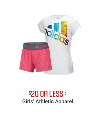 $20 OR LESS - GIRLS' ATHLETIC APPAREL