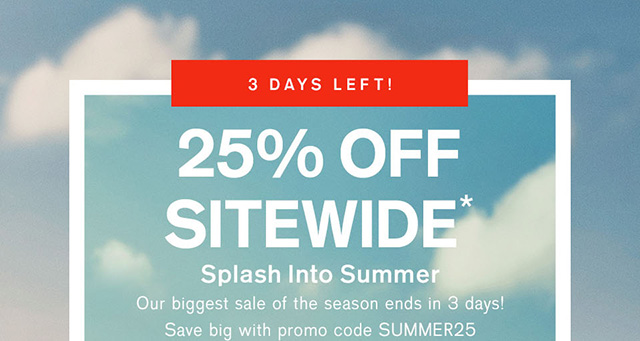 Memorial Day Weekend Sale | Save 25% Off Now