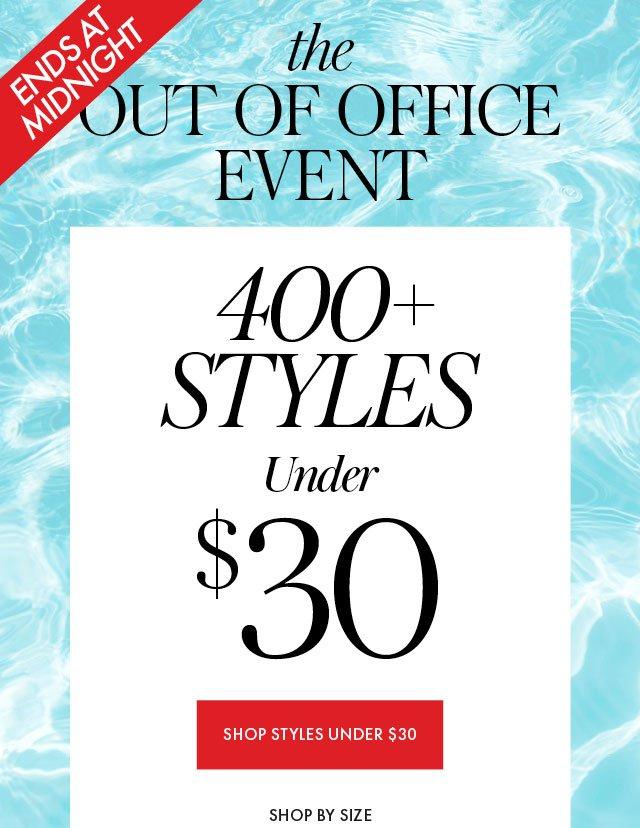 400 Styles Under $30 Hero