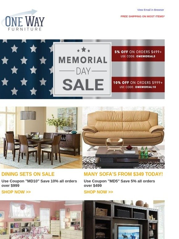 OneWayFurniture.com: Chill, Grill U0026 SHOP! Extra 10% Off FURNITURE   Free  Shipping | Milled