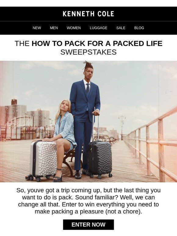 Packing for vacation 2018 sweepstakes
