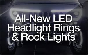 All-New LED Headlight Rings & Rock Lights
