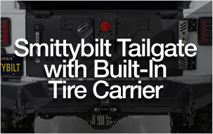 Smittybilt Tailgate with Built-In Tire Carrier