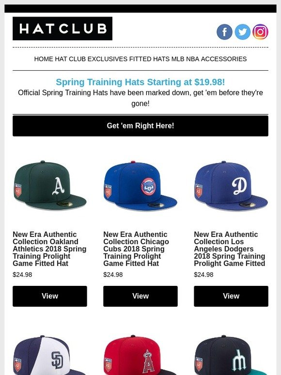 a34ed612e2 Hat Club  Official Spring Training Hats Marked Down!