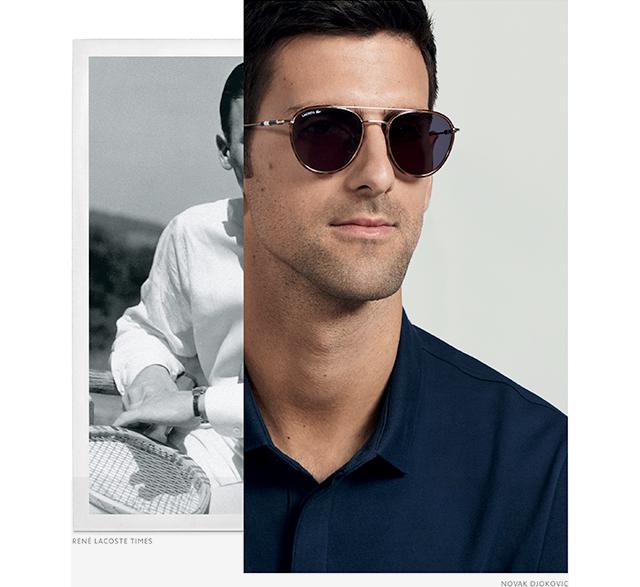 Lacoste Sonnenbrillen Novak Djokovic Edition Milled