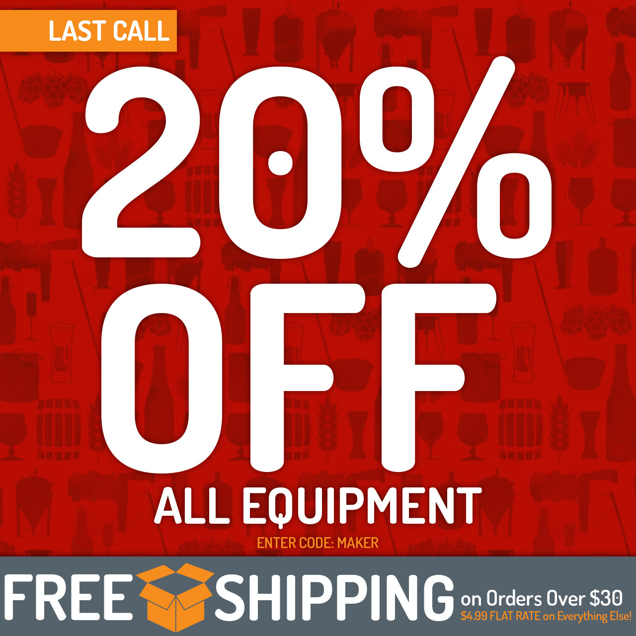 20% Off All Equipment now through 11:59pm CST on 5/29/2018. Use code: MAKER.