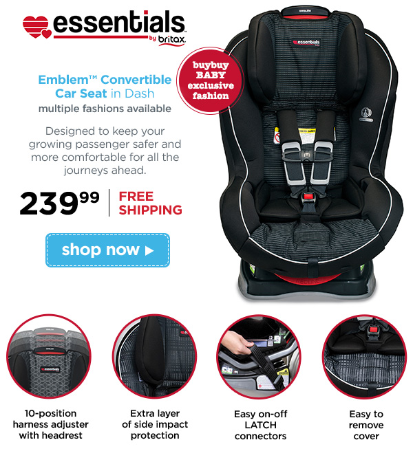 Essentials By Britax Emblem Convertible Car Seat In Dash Multiple Fashions Available Buybuy
