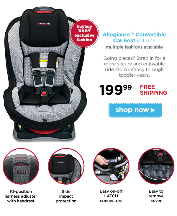 Allegiance Convertible Car Seat In Luna Multiple Fashions Available Buybuy BABY Exclusive Fashion