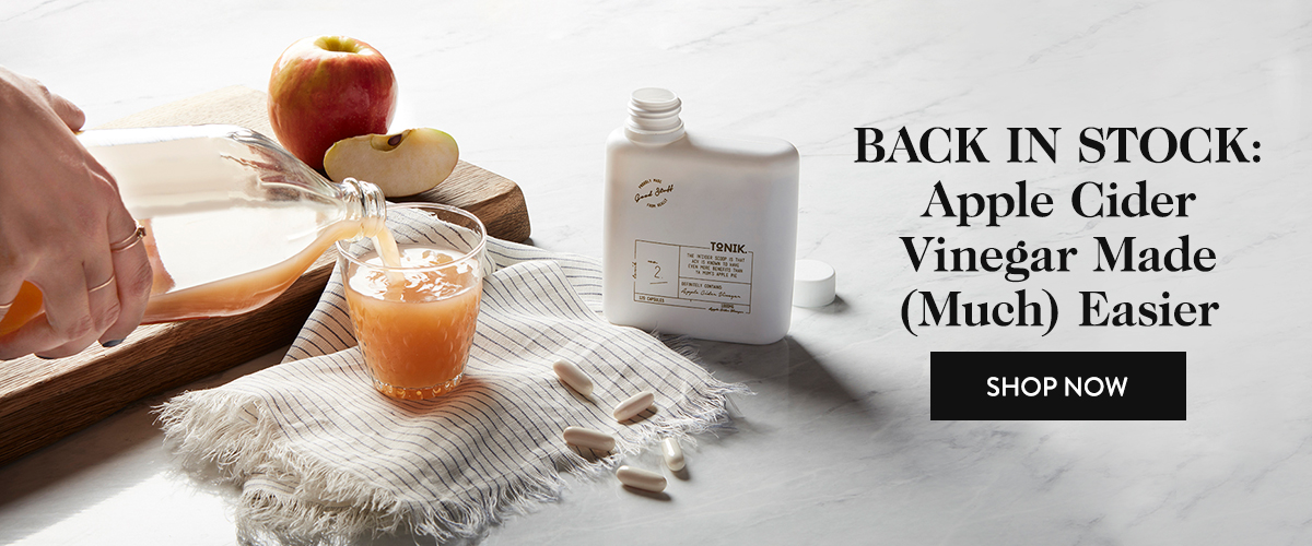 Back in Stock: Apple Cider Vinegar Made (Much) Easier