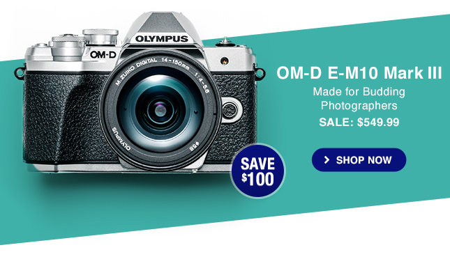 OM-D E-M10 Mark III SALE: $549.99