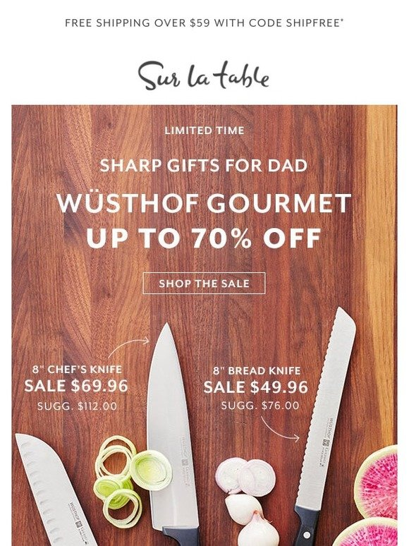 Sur La Table: Sharp Gift! Wüsthof Knives Up To 70% Off | Milled