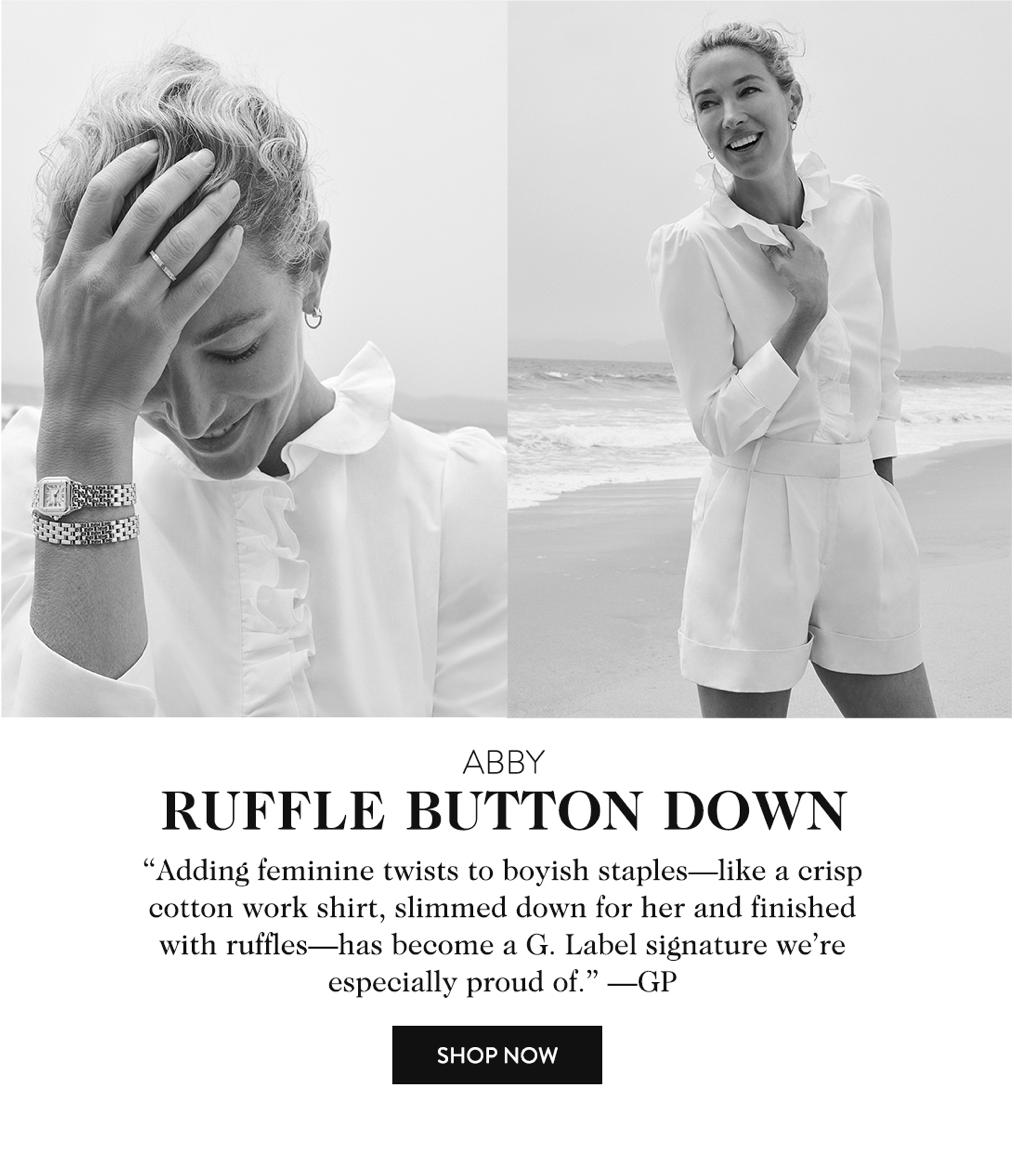 Abby Ruffle Button Down