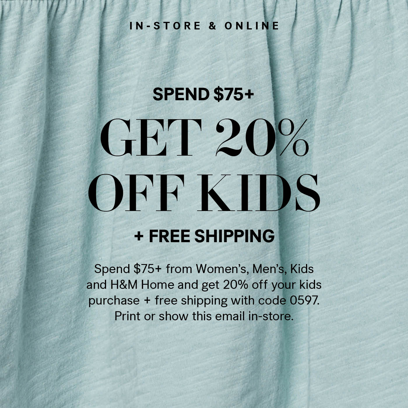 Hm 20 Off All Kidswear Free Shipping Milled