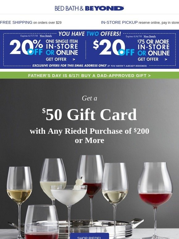 Bed Bath And Beyond Your 20 Off 75 Coupon Use It Or