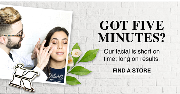 GOT FIVE MINUTES? - Our facial is short on time; long on results. - FIND A STORE
