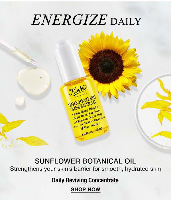 ENERGIZE DAILY - SUNFLOWER BOTANICAL OIL - Strengthens your skin's barrier for smooth, hydrated skin - Daily Reviving Concentrate - SHOP NOW