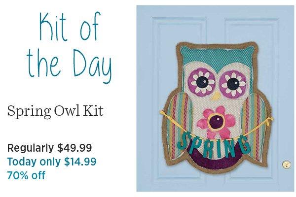 Spring Owl Kit 70% off