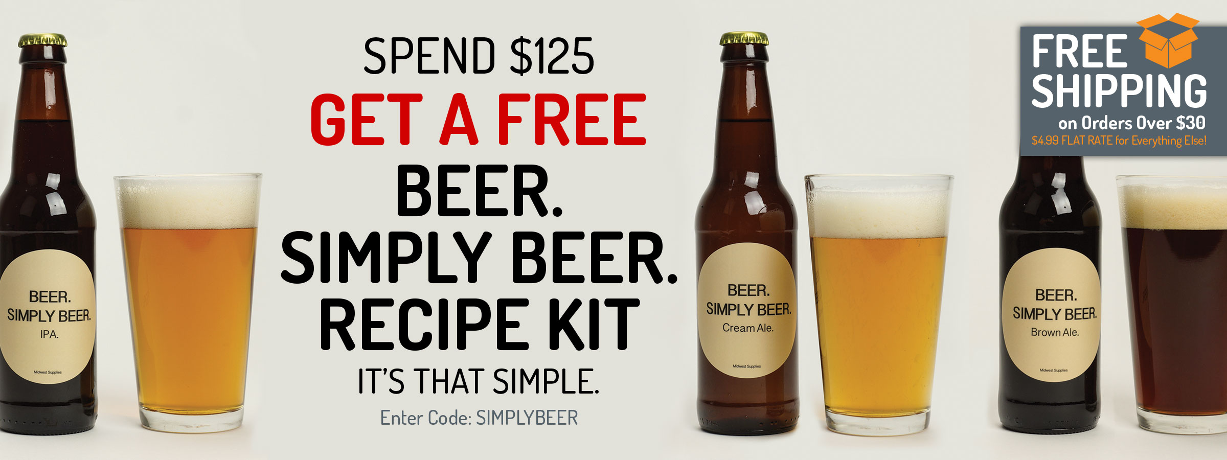 Spend $125, Get a Free Beer. Simply Beer. Recipe Kit