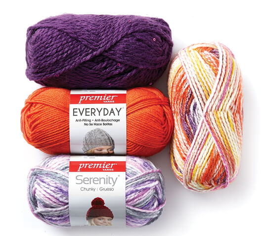 2.99 Each Premier Everyday and Serenity Yarn.