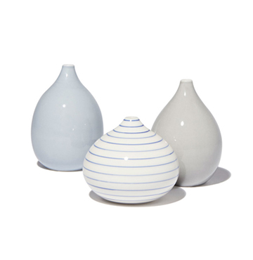 Anne Black Drop Vases