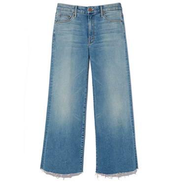 Roller Crop Snipper Fray Jeans, MOTHER