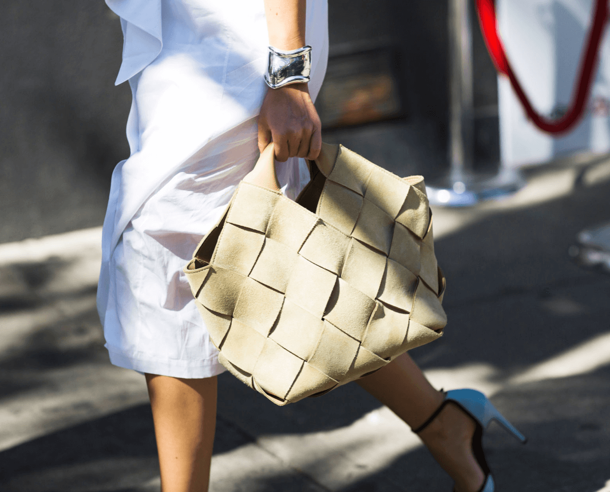 Fashion Uniform: Shirtdress + Woven Bag + Cuff