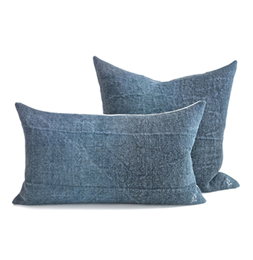 goop Embroidered Square Rectangle Linen Pillow