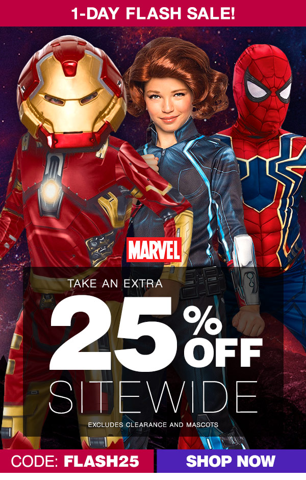 Costume SuperCenter 1 Day Flash Sale 25% Off Sitewide u2013 Today Only! | Milled  sc 1 st  Milled & Costume SuperCenter: 1 Day Flash Sale: 25% Off Sitewide u2013 Today Only ...