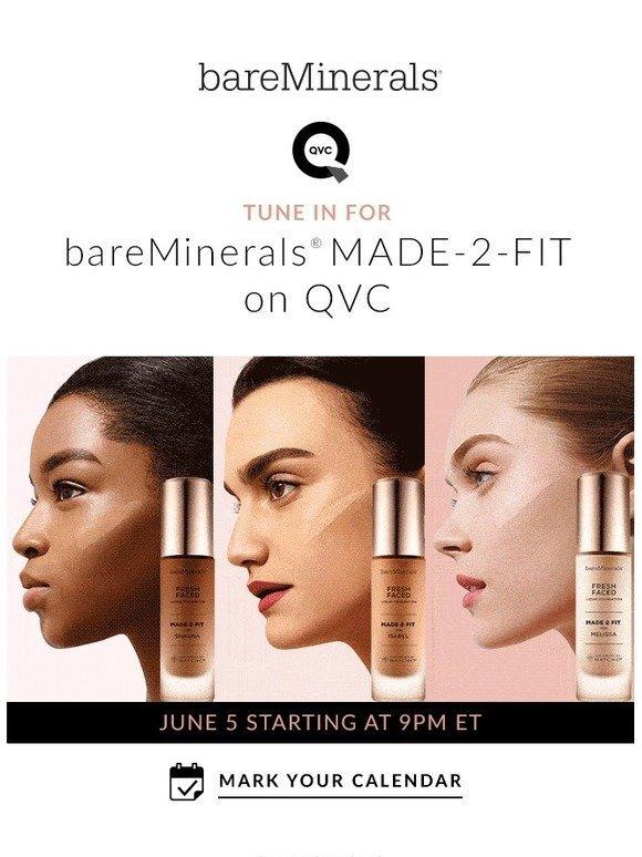 Bare Escentuals: LIVE ON QVC: bareMinerals MADE-2-FIT Custom