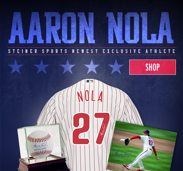 ab7a21d7810 Philadelphia Phillies Pitcher Aaron Nola Signs Exclusive Collectibles Deal  With Steiner Sports Memorabilia!