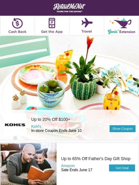 RetailMeNot: Up to 30% Off Kohl\'s | Starbucks | Amazon | The ...