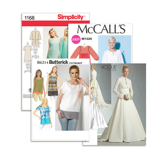 Simplicity, McCall's, Butterick AND Vogue Patterns.