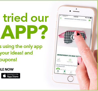 Have you tried our new app? Create and share projects using the only app awesome enough for your ideas! and p.s...it still has lots of coupons! Available now: Download at the App Store.